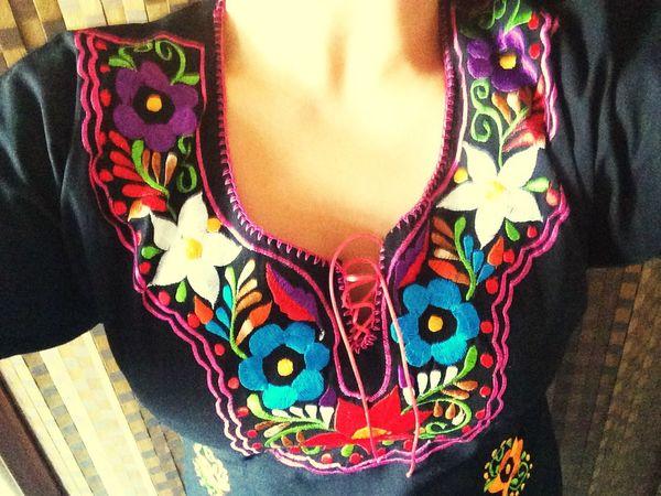 Colores Flores Vestido  Dress Flowers Mexico City Chiapas