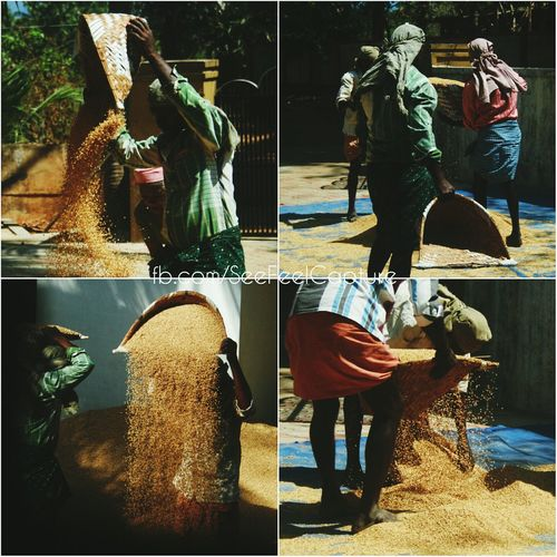 Traditional way of separating unwanted rice shells Men At Work  Kerala EyeEm Best Edits