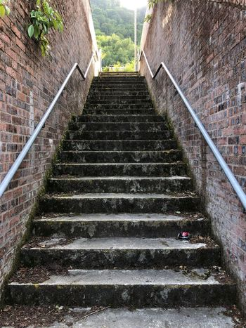 Steps Staircase Steps And Staircases Architecture The Way Forward No People Day Direction Railing Built Structure Outdoors Diminishing Perspective Wall - Building Feature Metal