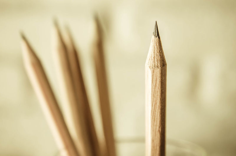 Close-up of pencil