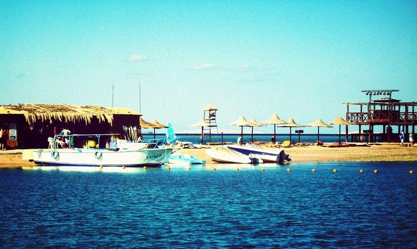 Hurghada Sea Egypt Seascape Boat