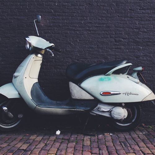 Scooter in Amsterdam Vacations Showcase: February Weekend Activities Outdoors Netherlands VSCO Cam Wall Urbanphotography Fun Urban Lifestyles Freedom