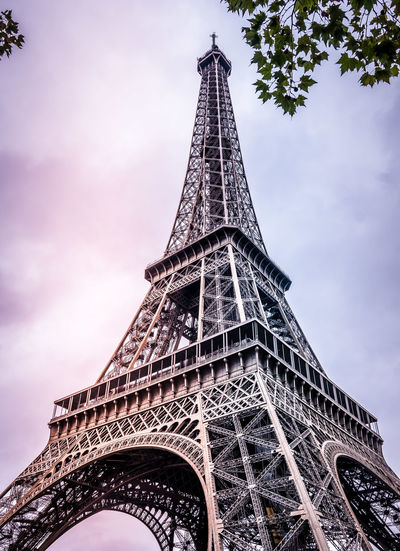 The Iron Lady Beautiful Eiffel Tower EyeEm Best Shots EyeEmBestPics Love Paris Architectural Feature Architecture Built Structure City Cloud - Sky Engineering Low Angle View Majestic Metal Monument No People Outdoors Sky Tall - High Tourism Tower Travel Travel Destinations Urban