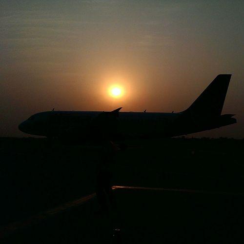 Travel Photography Agartala Airport Agartala Tripura India Mobile Photography Travelgram Aeroplane Htc One M7 Sunset_collection