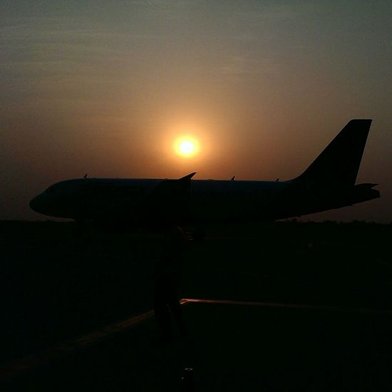 Travel Photography Agartala Airport Agartala Tripura India Mobile Photography Travelgram Aeroplane Htc One M7 Sunset_collection