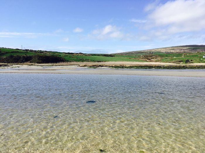 The beach was empty and the water was so clean. Such a beautiful scenery. ☀️☘️ Barleycove Crookhaven Irish Summer West Cork Beaches West Cork Empty Beach Irish Beach Ireland Irish Sea