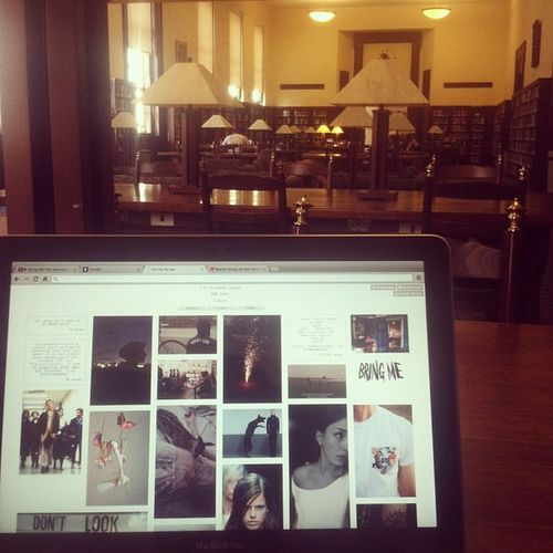 Came to the library do some work but got stuck on tumblr Blog Blogger Tumblr Whatislife