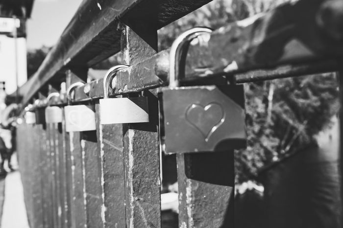 Lock 'n' Love ♥ // Bridge Lovers Forever Young My Fuckin Berlin Blackandwhite Photography
