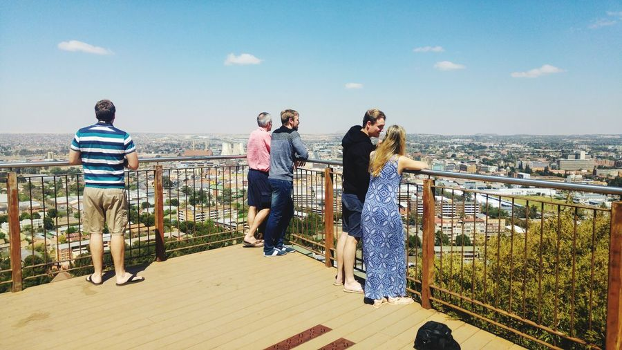 @Naval Hill Freestate South Africa South Africa Outdoor Photography Family Time Togetherness Tourist Attraction  Bonding Platform View From Above View Friendship Young Women City Full Length Togetherness Bonding Happiness Fun Cityscape Men Urban Skyline