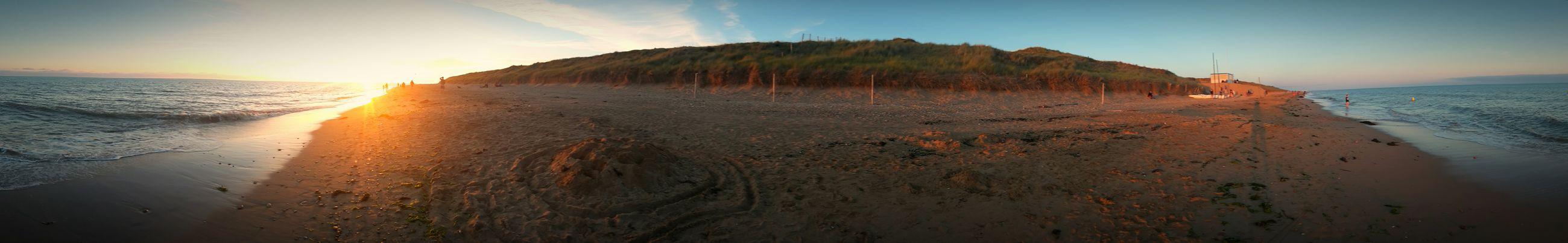 Sunset Panorama Samsungphotography Beach Sea Vacation Samsung