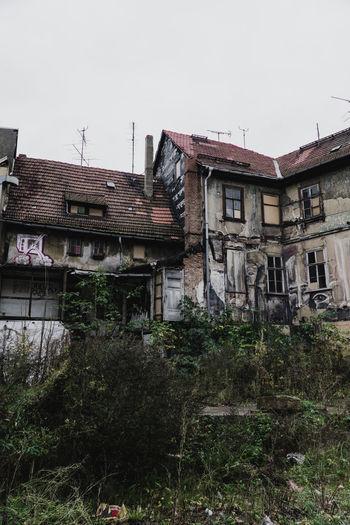 Houses against clear sky