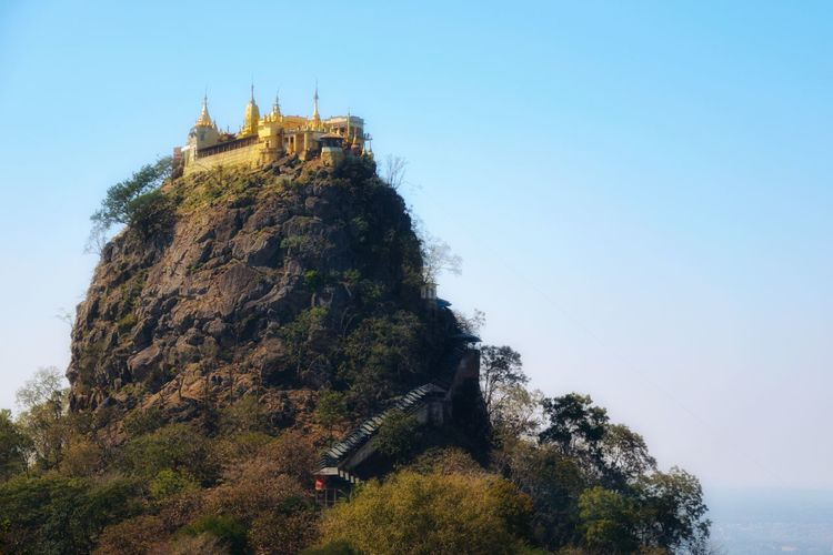 Mount Popa Architecture History Travel Destinations Religion Day Built Structure Travel Spirituality Ancient Civilization Clear Sky