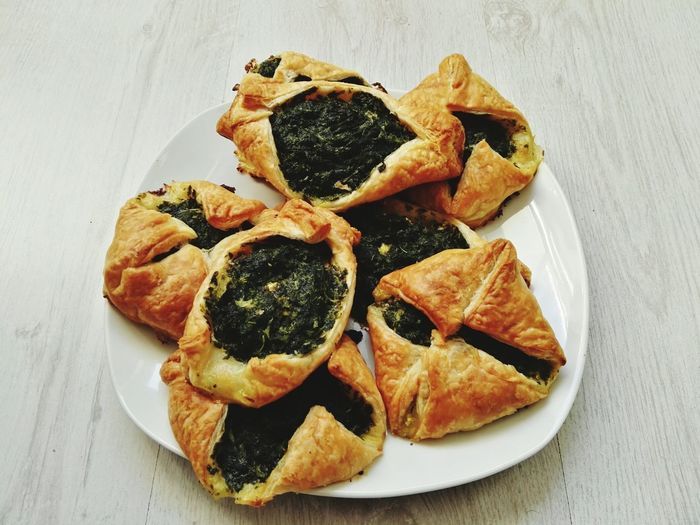 EyeEm Selects Food And Drink Freshness Food Ready-to-eat Indulgence Healthy Eating Plate Stuffed Puff Pastry Healthy Lifestyle Healthy Diet Garlic Healthy Food Freshness Food And Drink Spinach