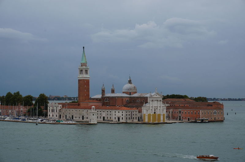 River In Front Of St Marks Basilica Against Sky