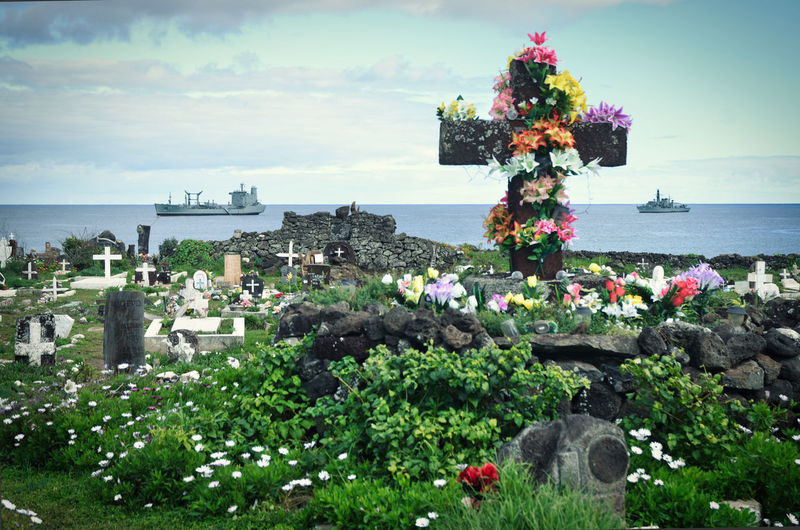 Respect Building Exterior Cementerio Rapanui Cloud - Sky Drammatic Flower Horizon Over Water Outdoors Plant Religion Rispetto Sea Water