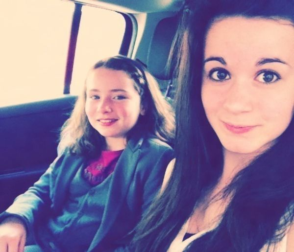 Taking Photos In Car Little Sister ❤