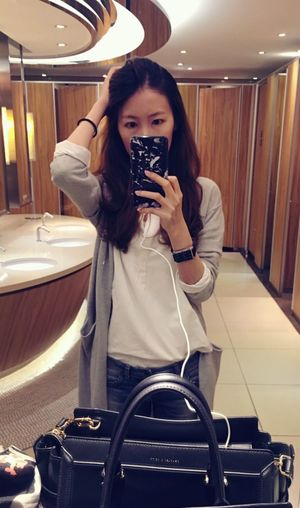 Longtime no see One Person Mirror Photographing Good Luck Selfie ✌