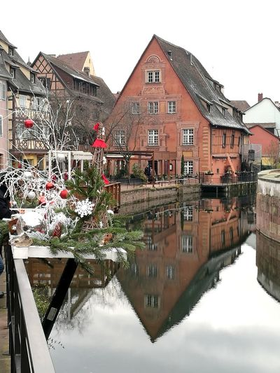 House Reflection Colmar Architecture Colmar, Alsace, France Christmastime Marché De Noel Colmar Travel Destinations