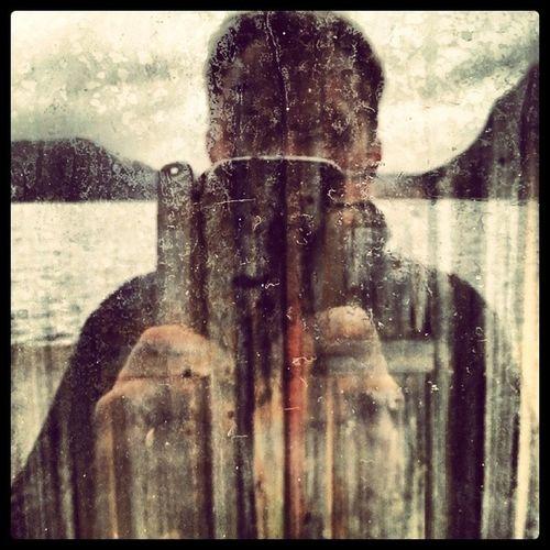 Selfie Faktisk Vindu Til gammel dør window