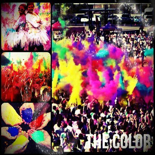 Alegria total!! Vamos @gisellydias? :-) Thecolorrun Cor Arcoiris