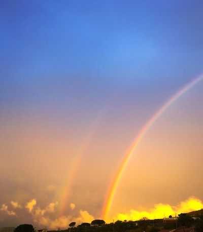 Scenics Beauty In Nature Rainbow Nature Tranquil Scene Sunset Tranquility Idyllic Sky Outdoors No People Sicily EyeEm Nature Lover EyeEm EyeEm Gallery EyeEmNewHere Low Angle View Multi Colored Day Contrail