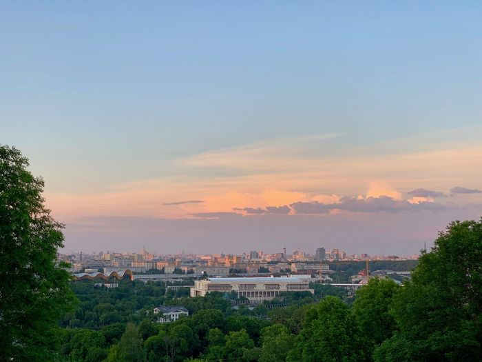 Moscow Russia Landscape Cityscape Outdoors Scenics - Nature City No People Beauty In Nature Architecture Sunset Building Exterior Built Structure View Moscow Sunset