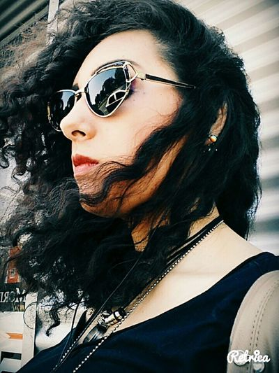 Sunglasses Outdoors Taking Photos Me Hairinthewind