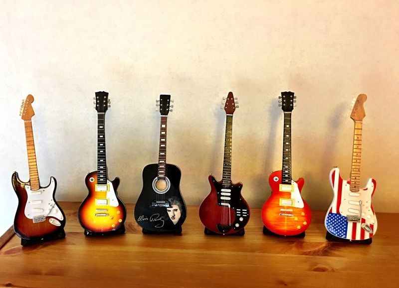 Musical Instrument Guitar Electric Guitar No People Indoors  Music Colourful Colorful Wood Wooden Guitars Guitars Elvis Creativity Creation Sweden Godaminnen