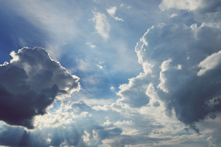 Heaven Blue Blue Sky Cloudy Heaven Peaceful Rays Of Sunlight Sky Sky And Clouds Summer Sky And Clouds Summertime Sunlight Tranquility