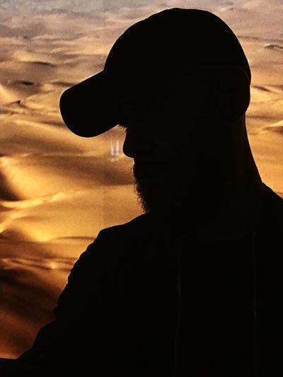 Silhouette Baseball Cap Desert Portrait Portrait Of A Man  Beard Man Mans Silhouette