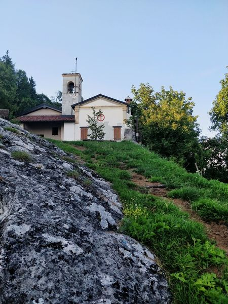 L'attimo. Santuario Valtrompia Pathway Churches Nature Photography Structure Sacred Places Summer Green Color Tree Religion Sky Architecture Building Exterior Blade Of Grass