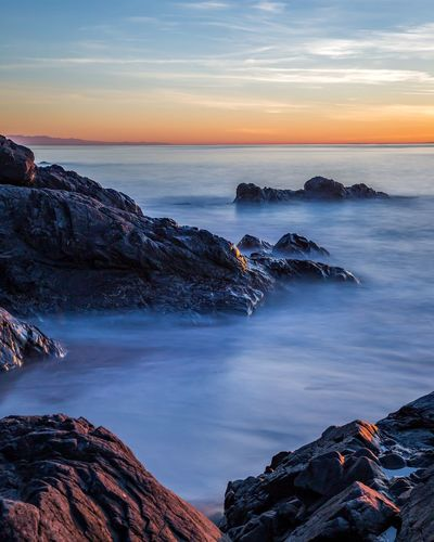 Sunset Sea Horizon Over Water Landscape Long Exposure Outdoors Lava Nature Night Scenics Beach Water No People Beauty In Nature Sky City Astrology Sign Astronomy