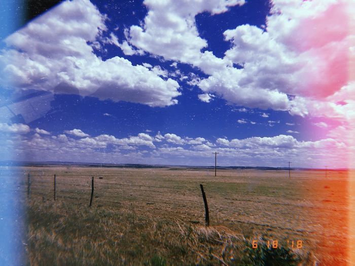 #Blue #Nature  #Outsidee(; #clouds  #countryside #fence #filmphotography #fluffyclouds #grass #green #landscape #landscapes #pastura #sky #valley