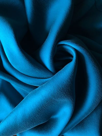 Blue Full Frame Close-up Backgrounds No People Textile Indoors  Pattern Still Life Textured  Abstract Material Silk Softness Studio Shot Turquoise Colored Crumpled