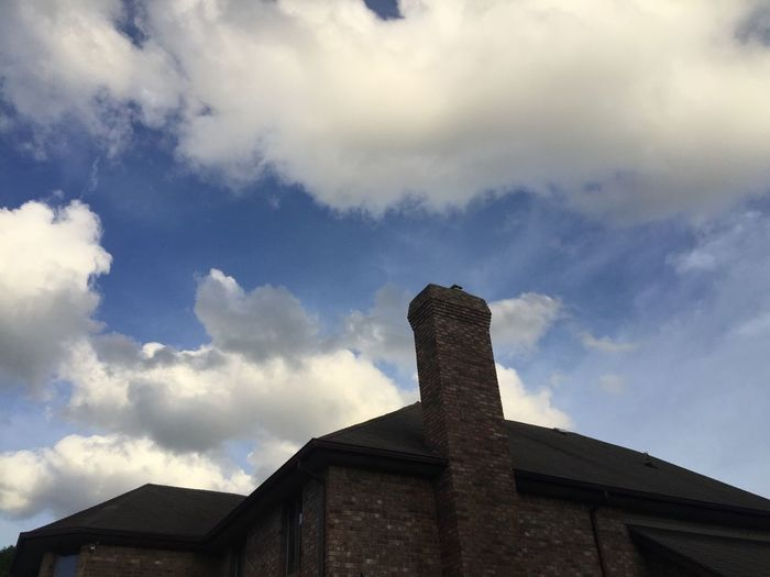 Sky Low Angle View Cloud - Sky Architecture Built Structure Building Exterior Day No People Outdoors Smoke Stack Chimney From My Point Of View Home Sweet Home Tadaa Community EyeEm Lover Of Clouds