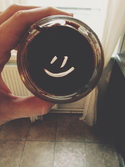 Nachricht aus dem Nutellaglas? Nutella ♥ Schoko Huge Breakfast FreierTag