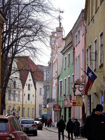 Talinn Talin Estonia Architecture Streetscene Streetscape Buildings