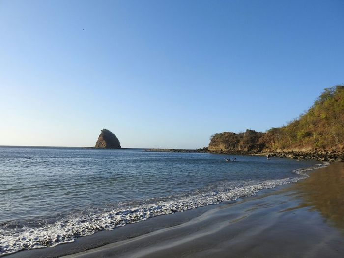 Costa Rica Guanacaste  Playa Rajada Water Sea Clear Sky Beach Sand Rock - Object Sky Horizon Over Water Coastline Shore Ocean Seascape Coast