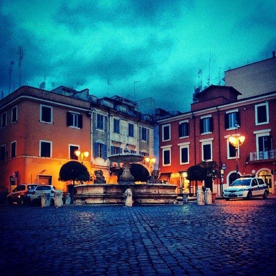 Piazza Mazzini Velletri Italy raincloudy