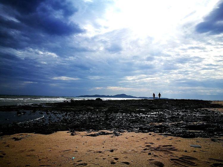 Beach Sea Nature Cloud - Sky Sumset Walking Around Water Sand Evening Sky Outdoors Cupple