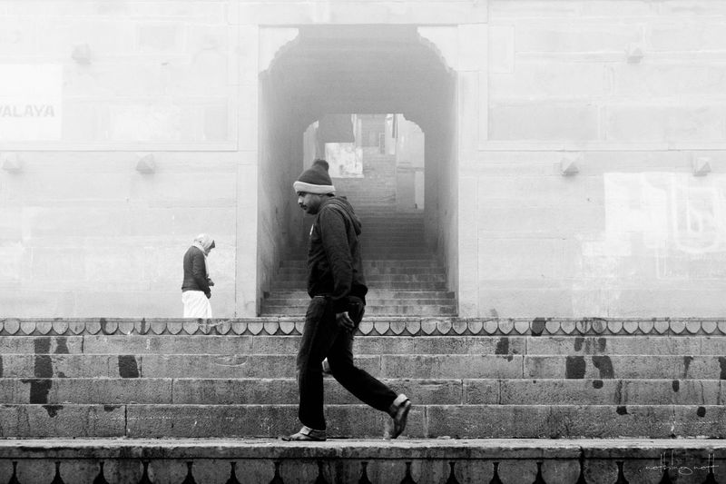 Architecture Built Structure Men Full Length One Person Real People Day Outdoors City Adults Only One Man Only Only Men People Adult Fog India Varanasi