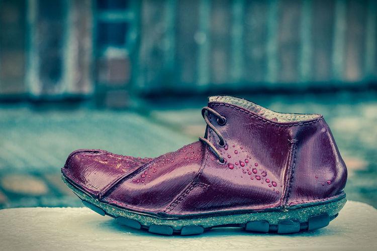 Close-up of shoe