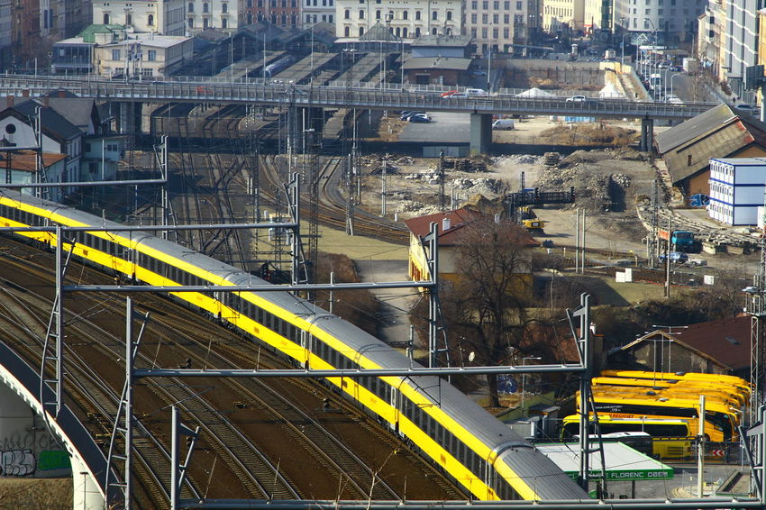 City City Break Czech Czech Republic Praha Trip Building Rail Train Train Station Yellow