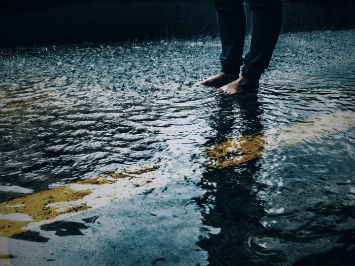 💧💧 Low Section Reflection Water Human Leg Rippled Wet Outdoors Human Body Part One Person Day Adult People EyeEmNewHere Getty VSCO Getty Images Beautiful Malaysia Taking Photos Photooftheday Rain Storm Cloud Rainy Season