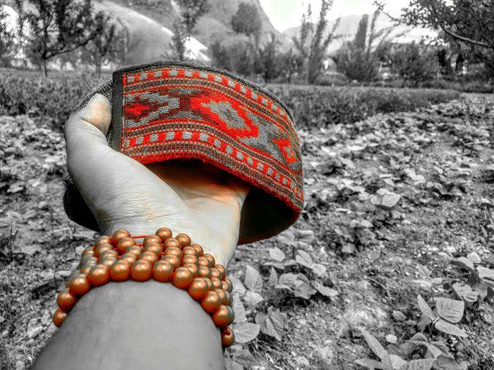 Himachali TopiEyeEm Selects Nature Outdoors Day Human Body Part Human Hand Himachal Himachaltourism Himachal, India Himachalpardesh Lahoul Field Love