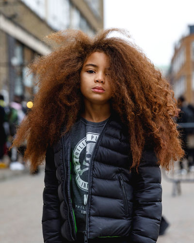 London Fashion Week Mens 2019 Redefining Menswear One Person Curly Hair Winter Portrait Focus On Foreground Hairstyle Warm Clothing Clothing City Hair Jacket Front View Young Adult Standing Brown Hair Lifestyles Adult Fashion Outdoors Kids Kids Fashion  London Fashion Fashion Photography
