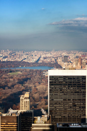 Building Exterior Architecture Built Structure Cloud - Sky High Angle View City Life Office Building Exterior Central Park Residential District No People Skyscraper Travel Destinations Day Landscape Building Outdoors City Cityscape Nature Sky Apartment