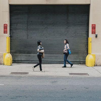 Women walking on the SidewalkAcross Streetphotography People NYC 50mm urban midtown vscocam