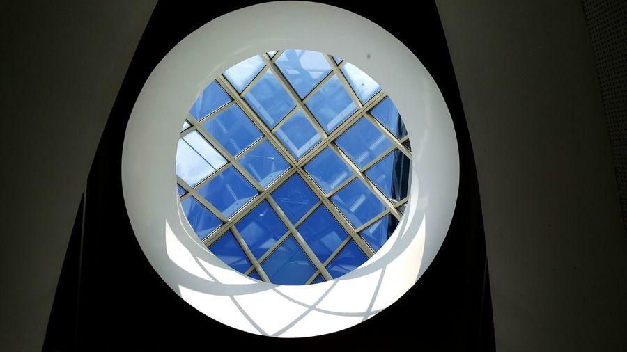 Geometric Shapes Blue Sky Blue Sky From The Inside Trieste