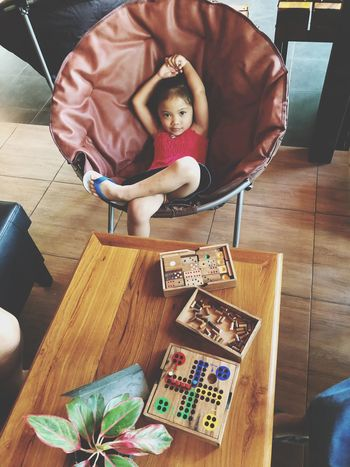 Representation Human Representation Indoors  Art And Craft Table Toy Home Interior Craft Wood - Material Doll Creativity Sitting Chair High Angle View Male Likeness Female Likeness Still Life Seat